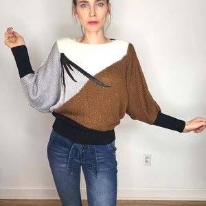 Vintage Angora Rabbit Batwing Sweater